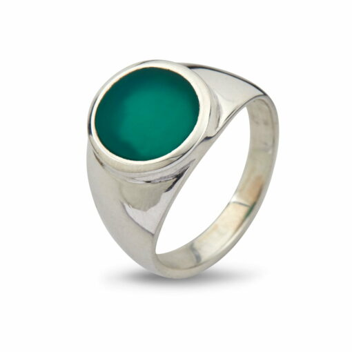 Oval Green Onyx