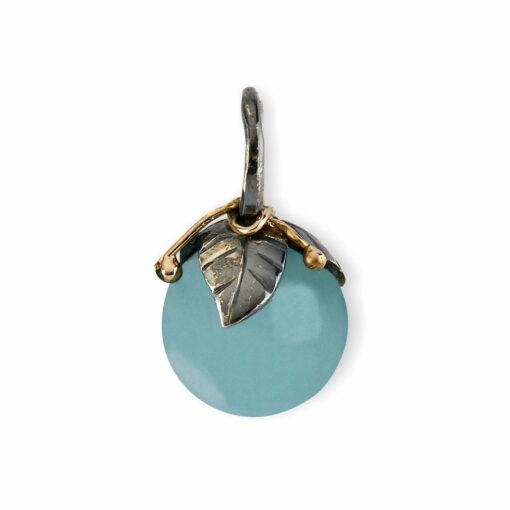 Urban Leaf Drop Aquamarine 12mm