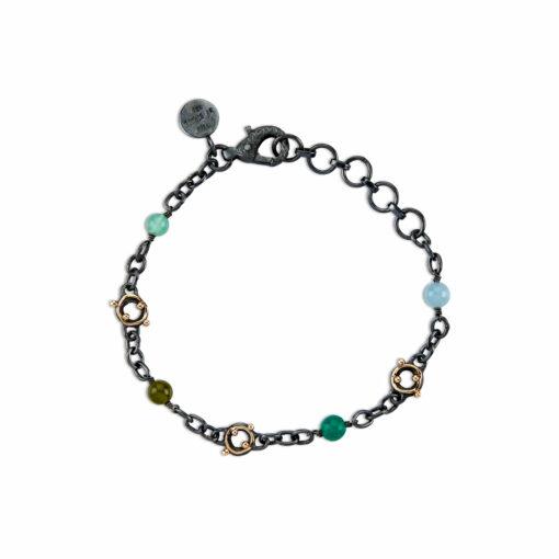 Chain Zeus Stones Blue Green Mix